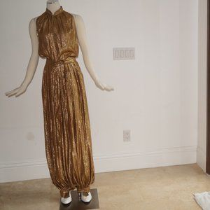 Other - Gold Long Evening Romper